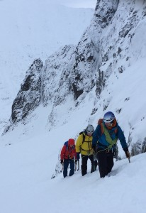 Heading up into Coire an Ciste