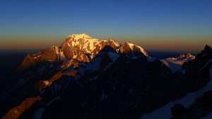 MT Blanc from Jorrasses at dawn